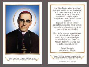 Oración a San Oscar Arnulfo Romero, Obispo y Mártir