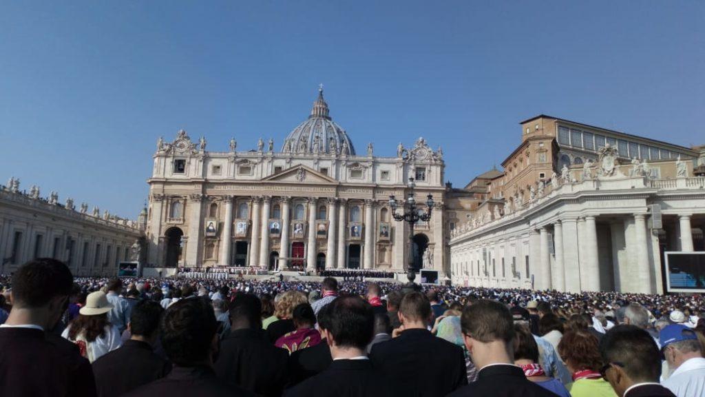 Durante Ceremonia de Canonización San Óscar A. Romero