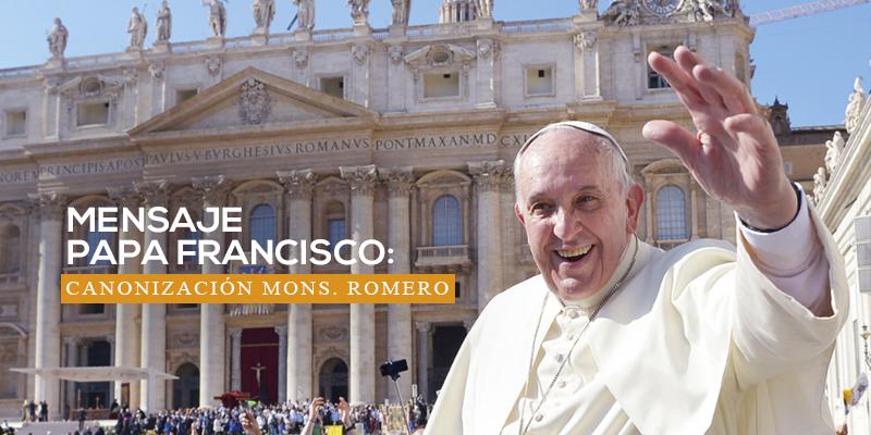 Discurso del Papa Francisco a los peregrinos salvadoreños